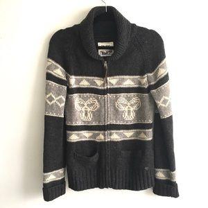 ARITZIA Sea to Sky Wool M Cardigan Sweater Grey XL